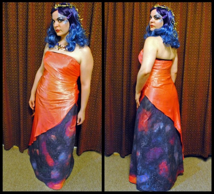 diy miss universe halloween costume refashion - Universe Halloween Costume
